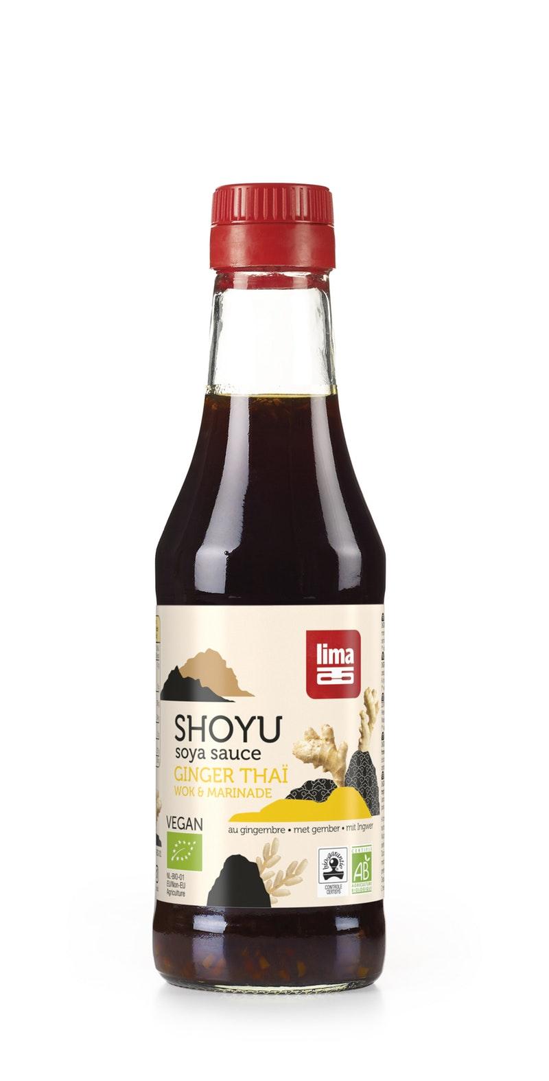 Shoyu ginger thaï BIO pour wok & grillades, Lima (250 ml)