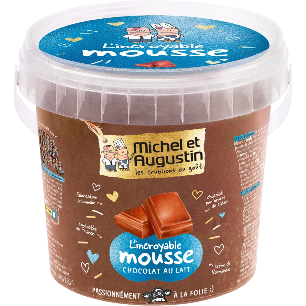 L'incroyable mousse au chocolat au lait, Michel et Augustin (500 ml)