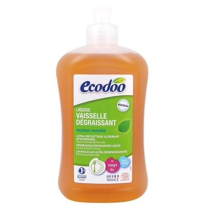 Liquide vaisselle dégraissant à la menthe BIO, Ecodoo (500 ml)