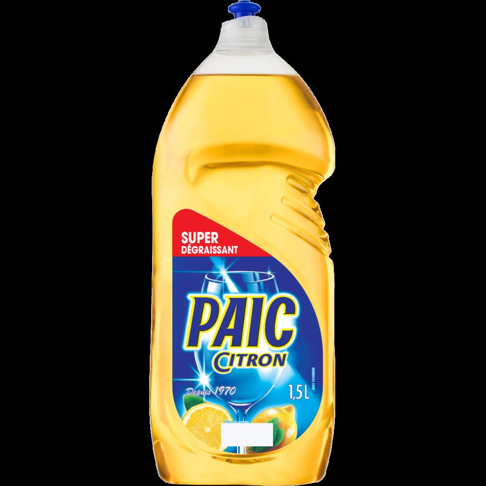 Liquide vaisselle citron, Paic (1,5 L)