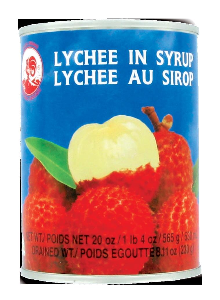 Litchis au sirop, Coq (565 g)