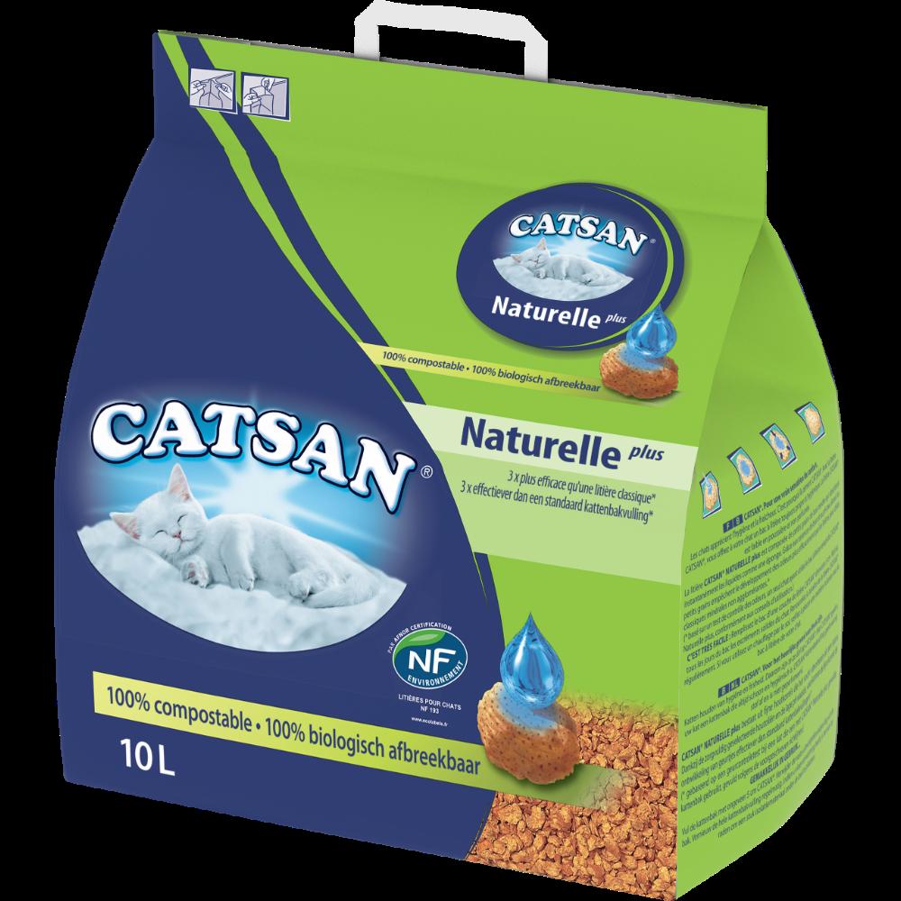 Litière pour chat Végétale Plus, Catsan (10 L)