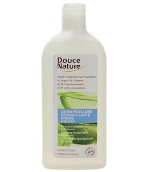 Lotion micellaire démaquillante à l'aloe vera, Douce Nature (300 ml)