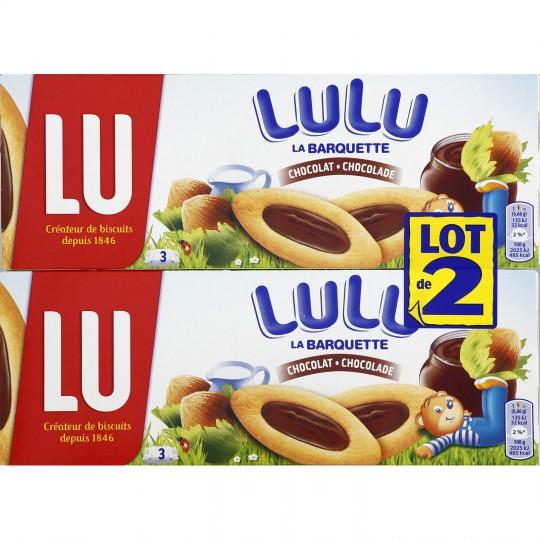 Barquettes chocolat & noisettes Lulu, Lu LOT DE 2 (2 x 120 g)