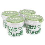 Fromage frais nature 0%, Malo (4 x 100 g)