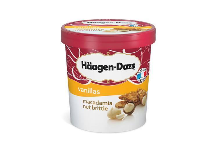 Pot vanille Macadamia nut brittle, Haagen Dazs (500 ml)