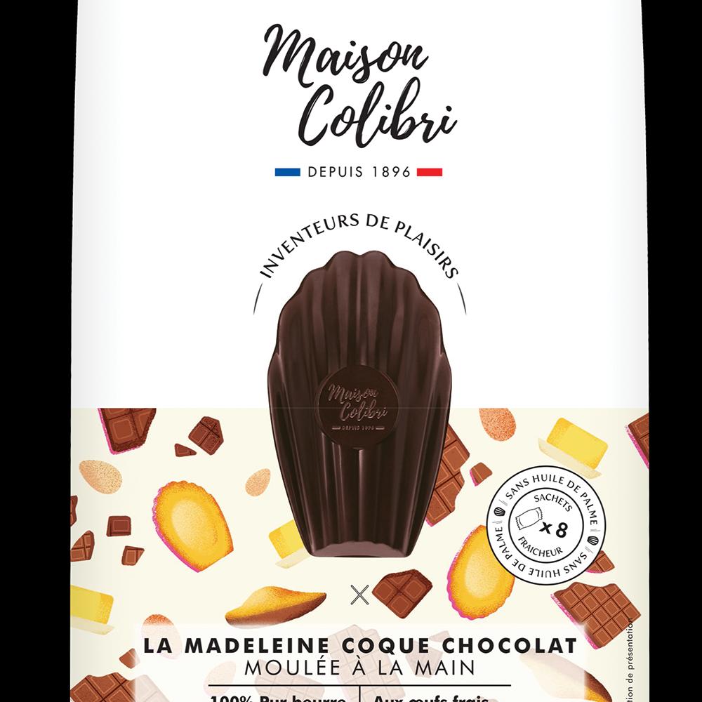 Madeleines coque chocolat, Maison Colibri (x 8, 240 g)