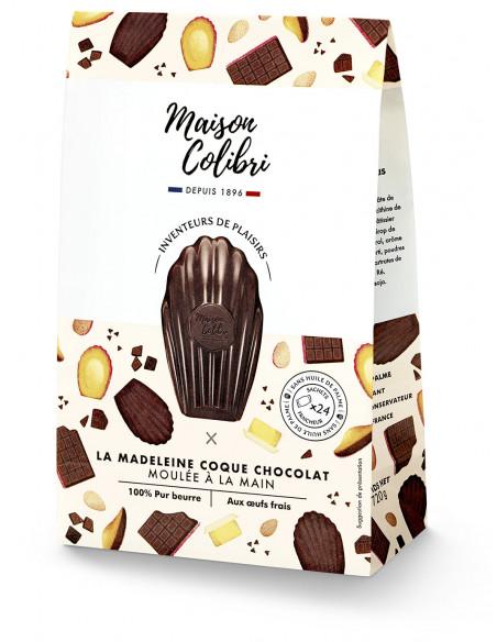 Madeleines coque chocolat noir, Maison Colibri (x 8, 240 g)
