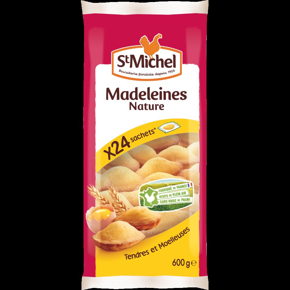 Madeleines natures tendres et moelleuse, St Michel (x 24, 600 g)