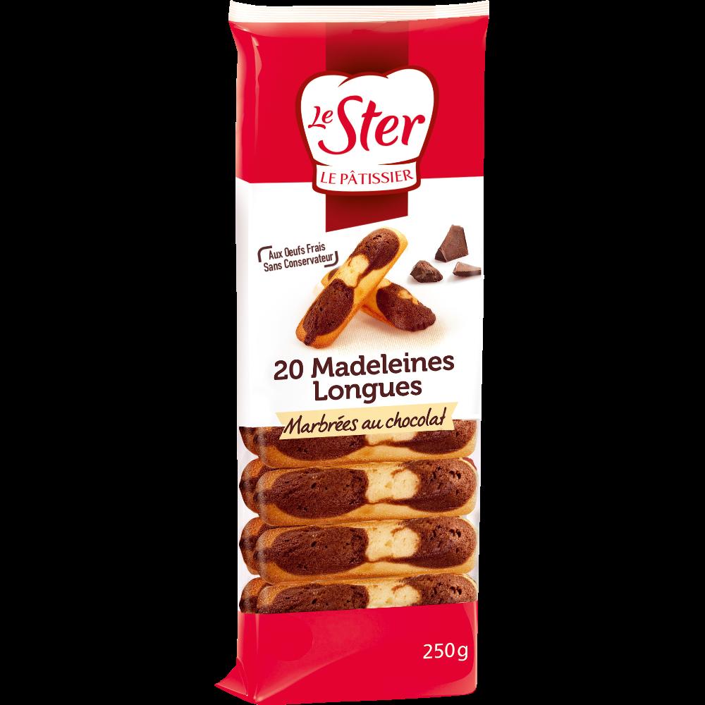 Madeleines longues marbrées au chocolat, Le Ster (250 g)