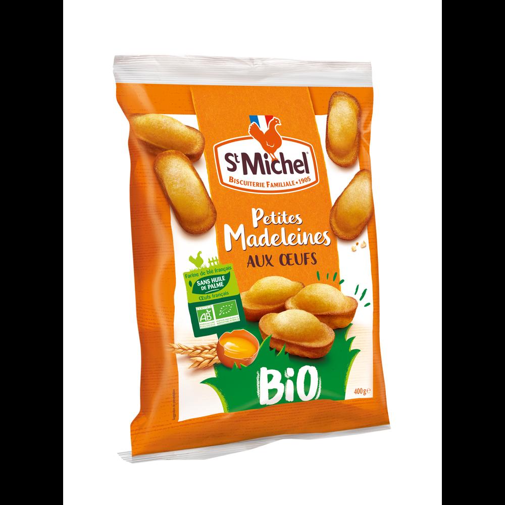Petites madeleines aux oeufs BIO, St Michel (400 g)