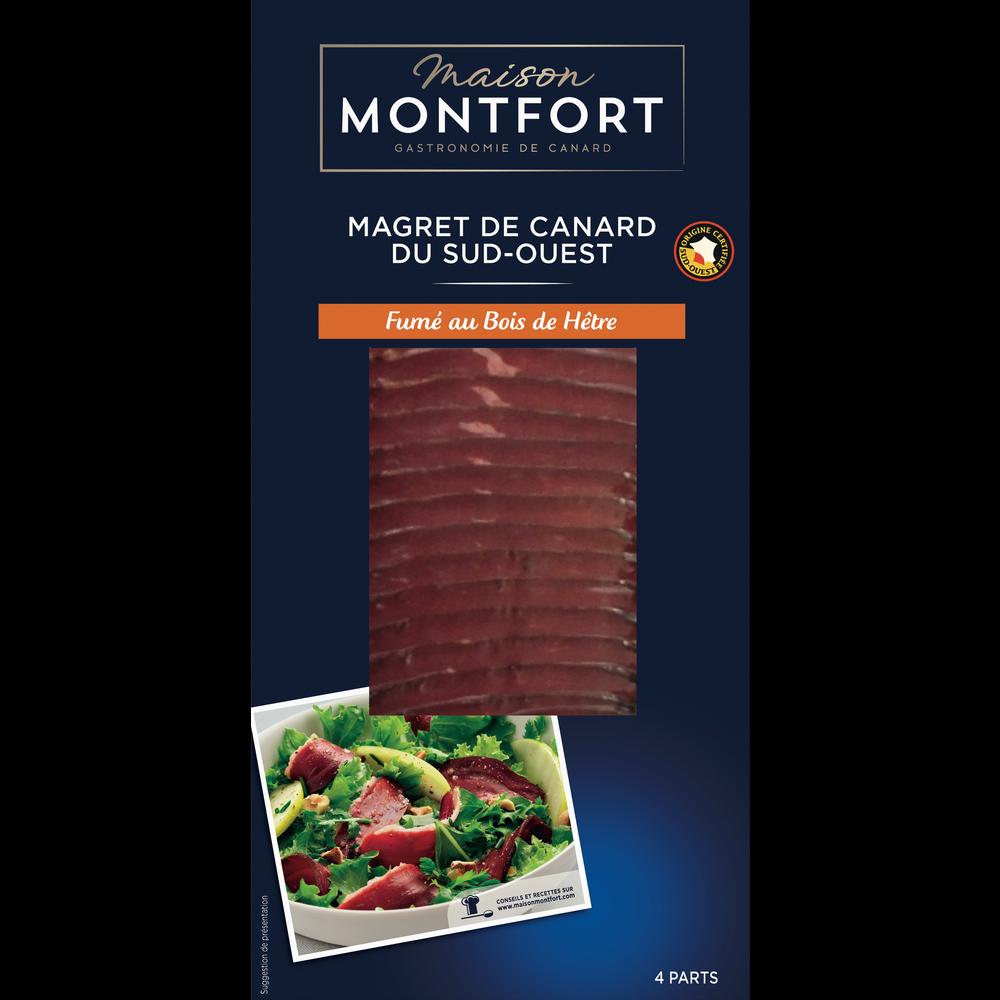 Magret de canard tranché fumé au bois de hêtre, Maison Montfort (80 g)