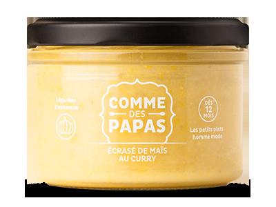 Ecrasé de maïs au curry BIO - 12 mois, Comme des papas (200 g)