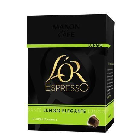 Café capsule Lungo Elegante, L'Or Espresso (x 10)