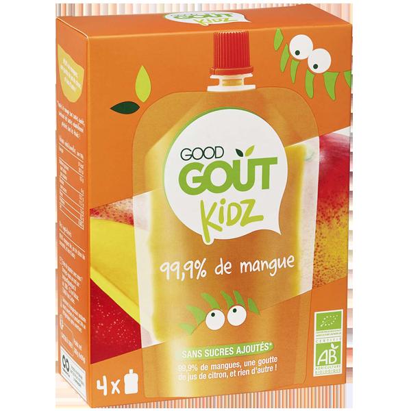 Gourdes mangue -  dès 3 ans, Good Goût Kid'z (4 x 90 g)