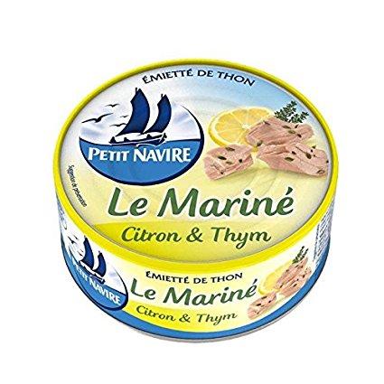 Thon mariné citron et thym, Petit Navire (110 g)