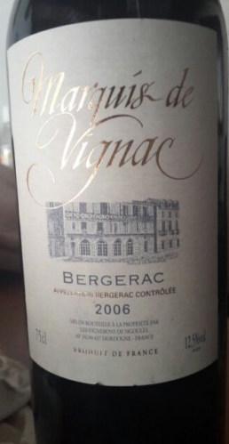 Bergerac Marquis de Vignac (75 cl)