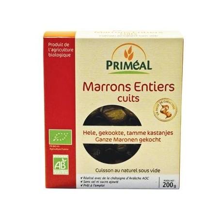 Marrons entiers BIO cuits sous vide, Priméal (200 g)