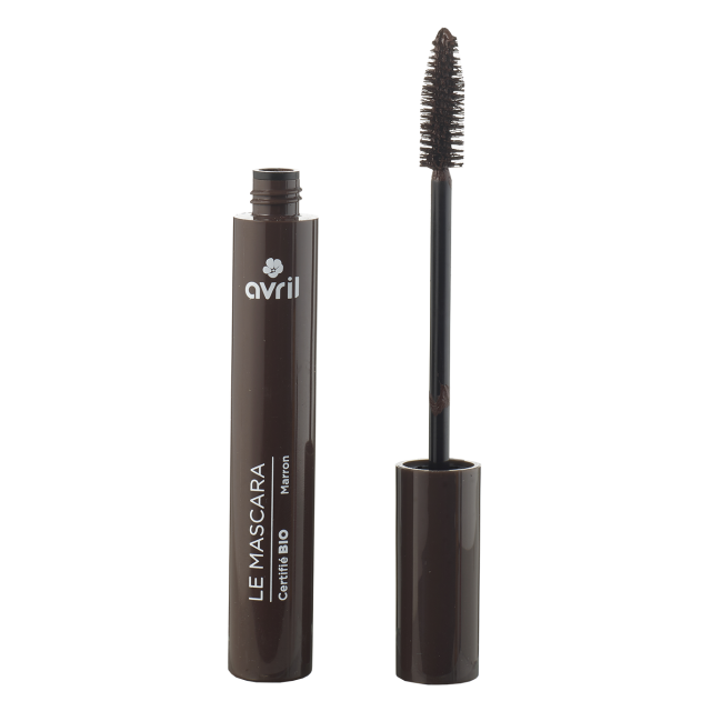 Mascara longue tenue marron certifié BIO, Avril (9 ml)