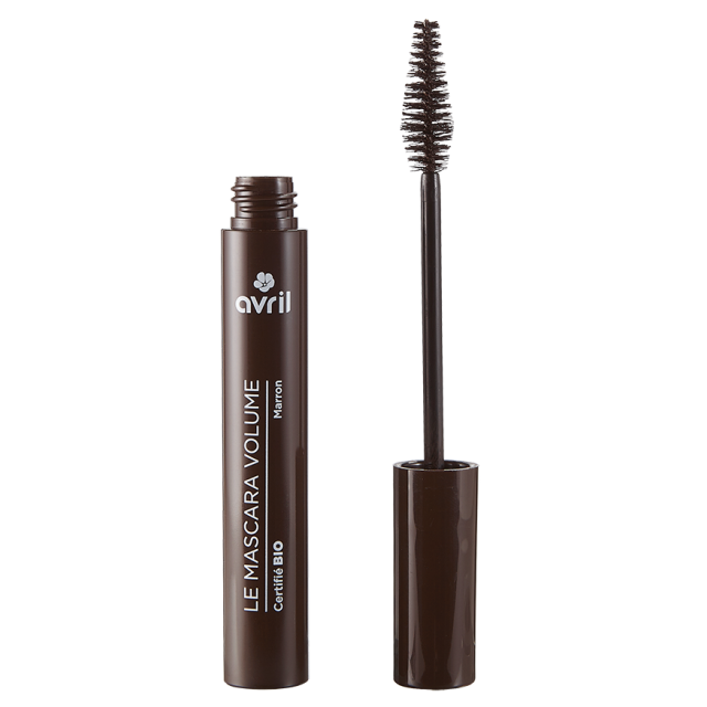 Mascara volume marron certifié BIO, Avril (10 ml)