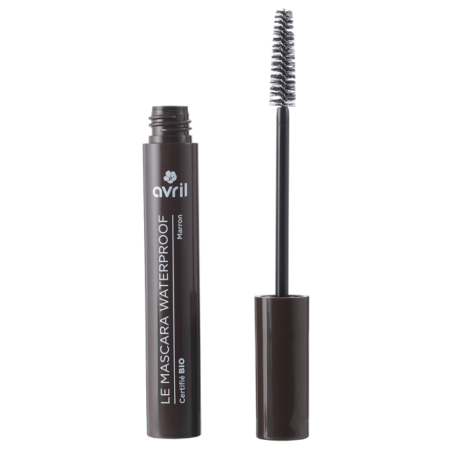 Mascara waterproof marron certifié BIO, Avril (10 ml)