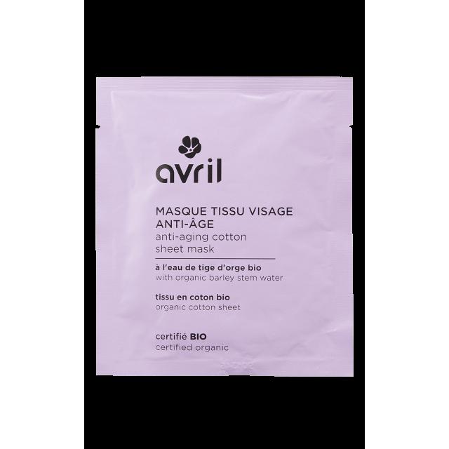 Masque visage en tissu anti-âge certifié BIO, Avril (x 1)
