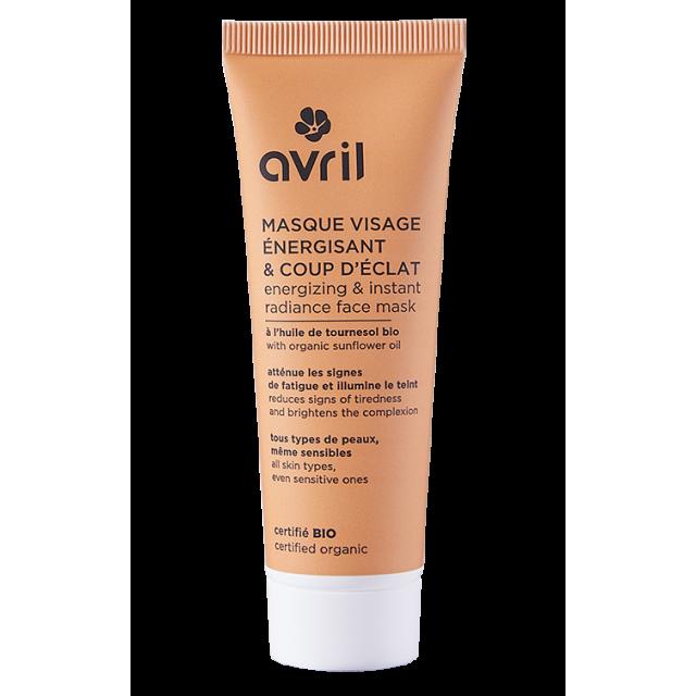Masque visage énergisant certifié BIO, Avril (50 ml)