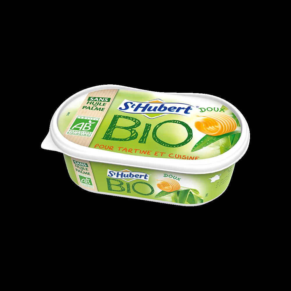 Margarine sans huile de palme doux BIO, Saint Hubert (245 g)