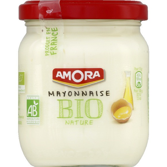 Mayonnaise nature BIO, Amora (180 g)