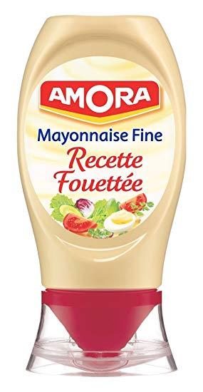 Mayonnaise recette fouettée flacon souple, Amora (230 g)