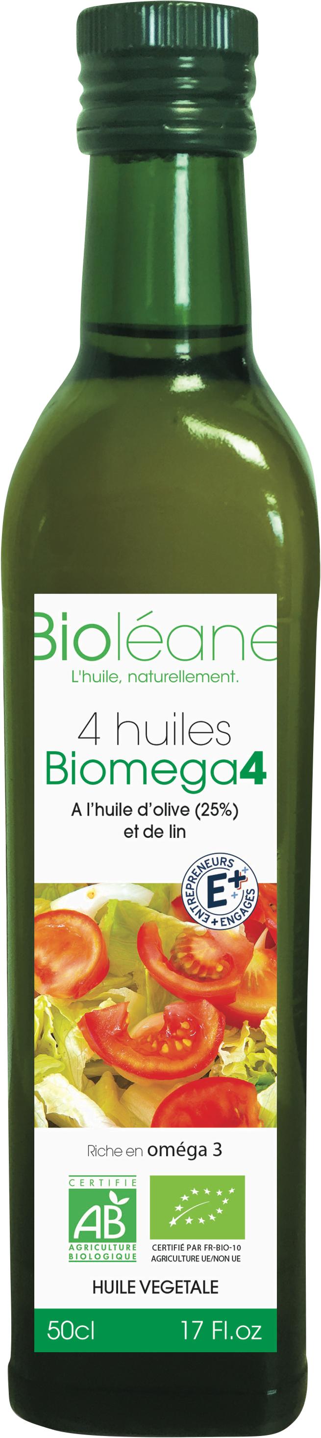 Mélange 4 huiles vierges Bio Biomega 4 Biolena (50 cl)