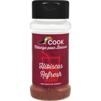 Mélange hibiscus refresh pour boissons BIO (hibiscus,gingembre,betterave rouge), Cook (35 g)