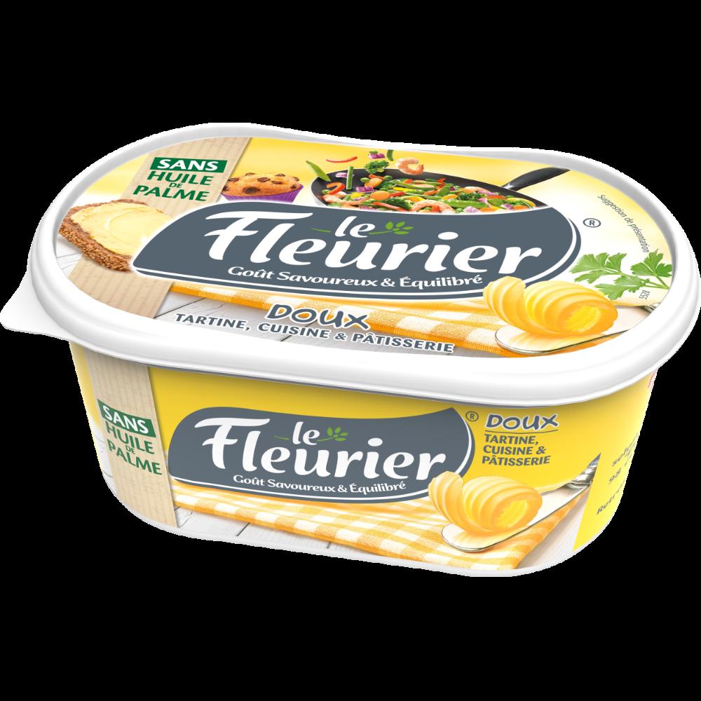 Margarine allégée cuisson et tartine doux 52% MG, Le fleurier (500 g)