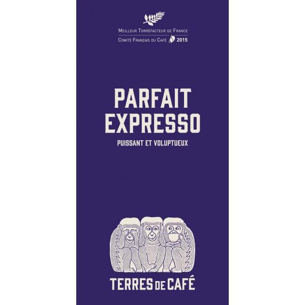 Café moulu Mélange Parfait Expresso, Terres de Café (250 g)