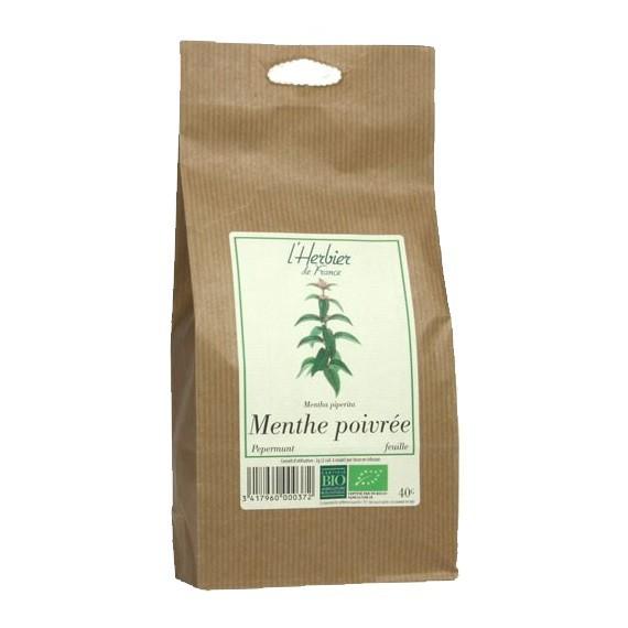 Menthe poivrée en feuilles BIO, Herbier de France (40 g)