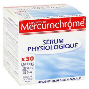 Doses de sérum physiologique, Mercurochrome (x 30)