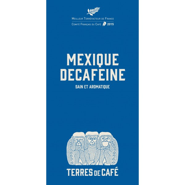 Café moulu Mexique décaféiné à l'eau, Terres de Café (250 g)