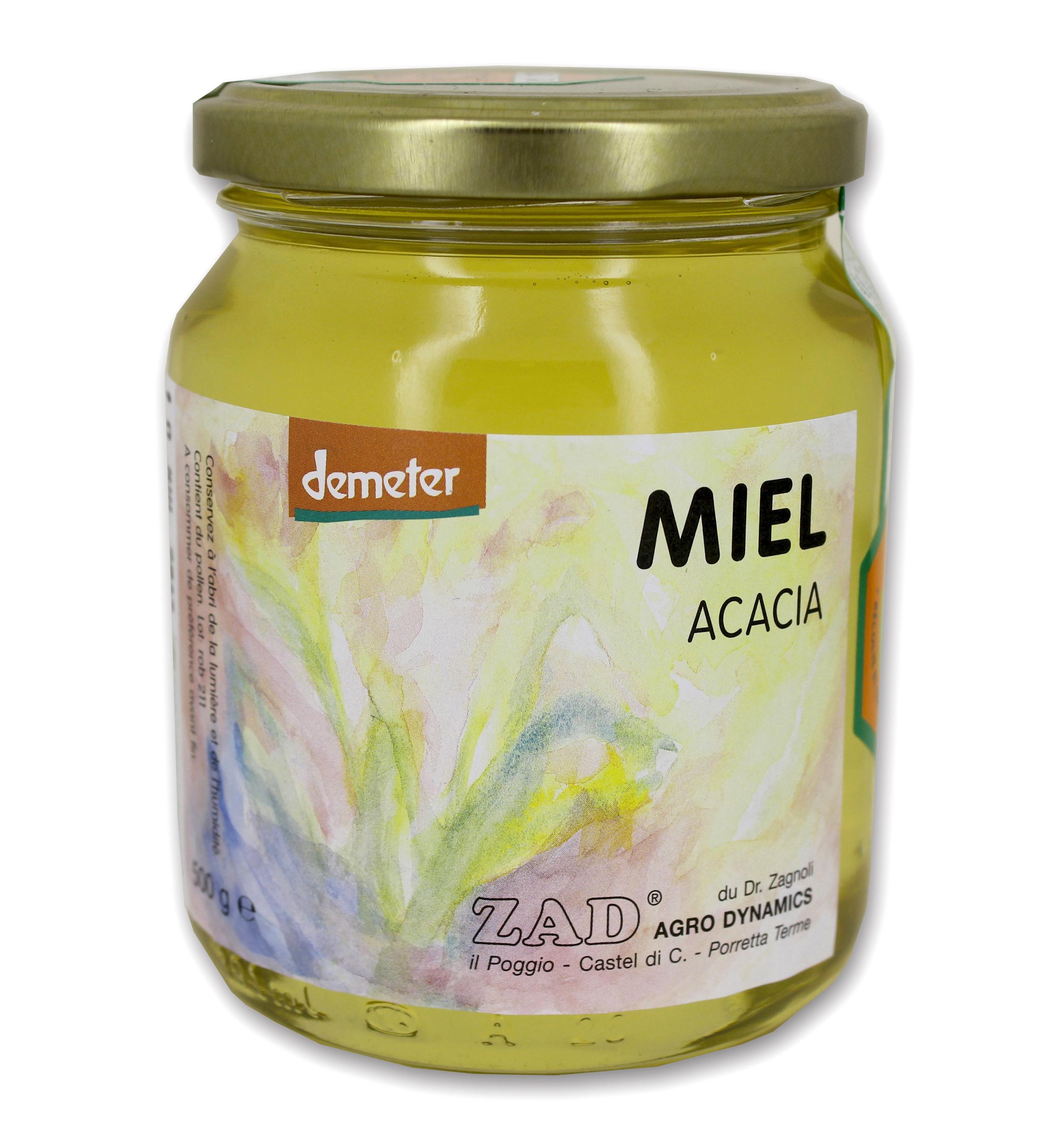Miel d'acacia BIO Zad Agrodynamics Biodynamie (500 g)