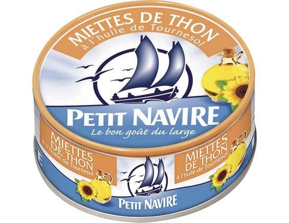 Miettes de thon à l'huile, Petit Navire (140 g)