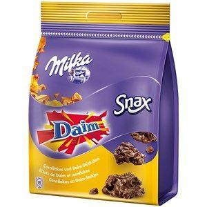 Chocolat au lait et au Daim Snax, Milka (145 g)