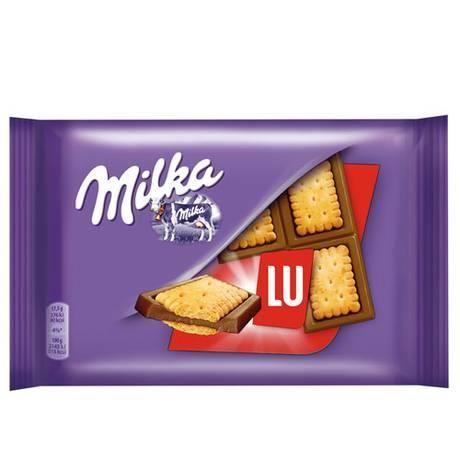 Barre Milka, biscuit Petit Lu (35 g)