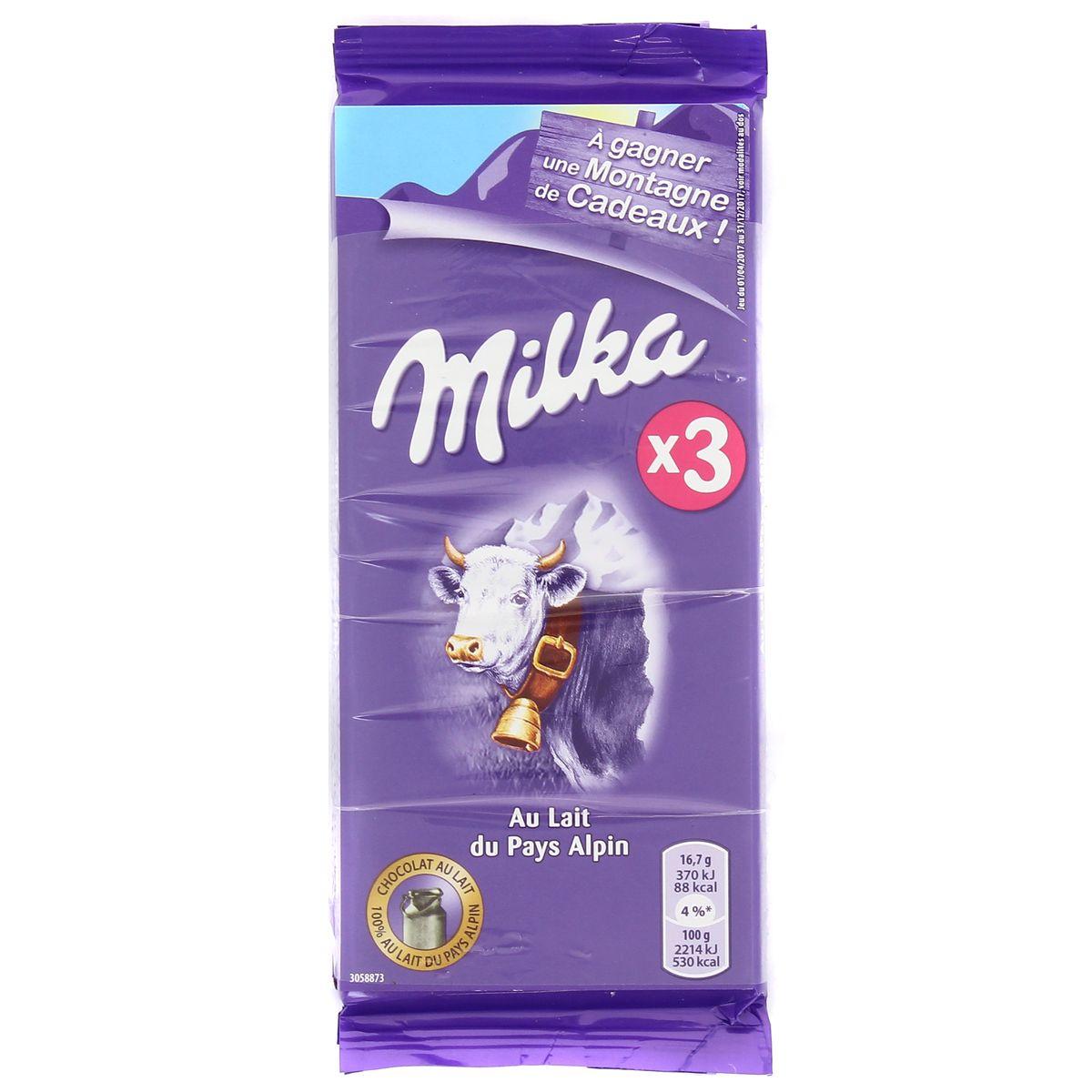 Chocolat au lait, Milka (3 x 100 g)