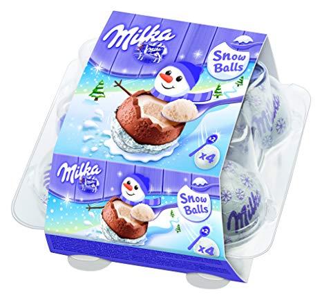 Milka Snowballs Oeufs Surprises au lait (x 4, 112 g)