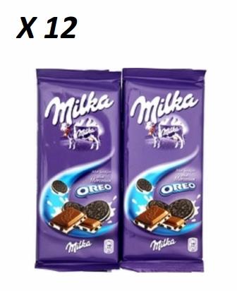 Chocolat Oreo, Milka (2 x 100 g, x 12)