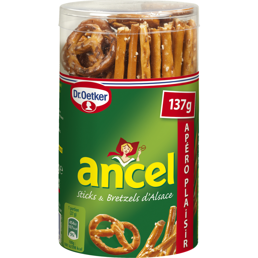 Mini assortiment sticks & bretzels d'Alsace, Dr Oetker (137 g)