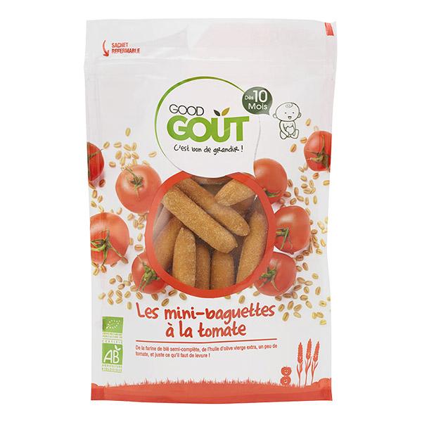 Mini-baguettes à la tomate BIO - dès 10 mois, Good Goût (70 g)