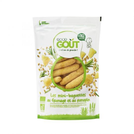 Mini-baguettes romarin fromage BIO - dès 10 mois, Good Goût (70 g)