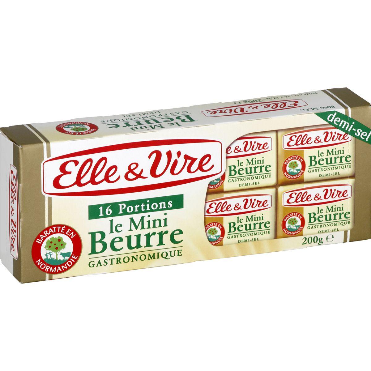Mini Beurre demi-sel, Elle & Vire (16 x 12.5 g)