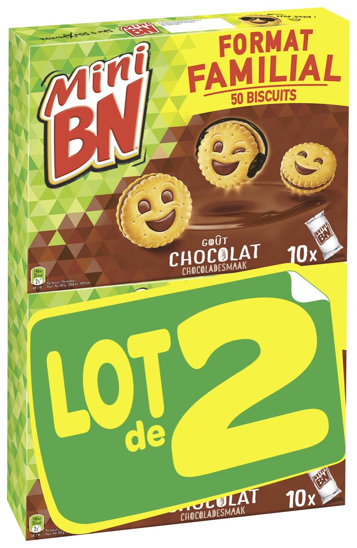 Mini BN au chocolat LOT DE 2 (2 x 10 pochons, 700 g)