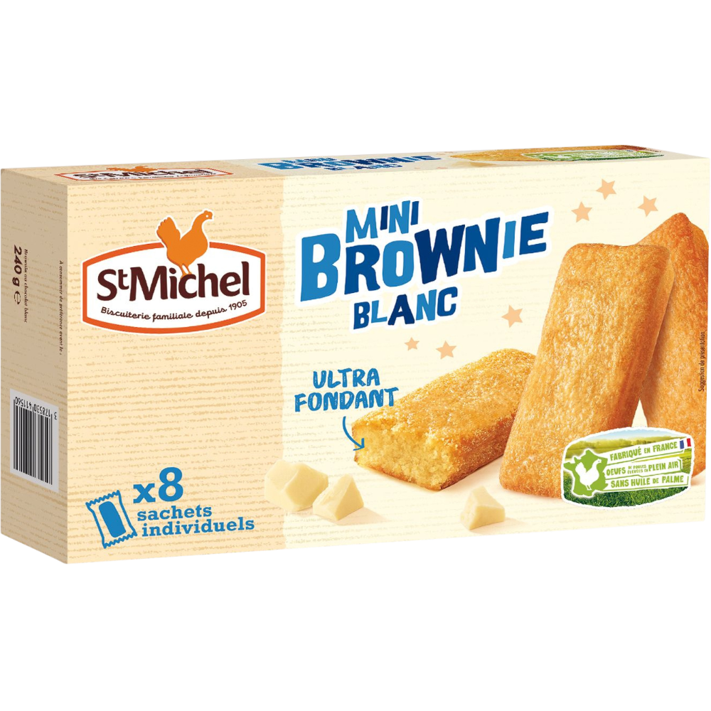 Mini brownie chocolat blanc, St Michel (240 g)